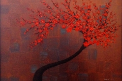 smred tree on copper