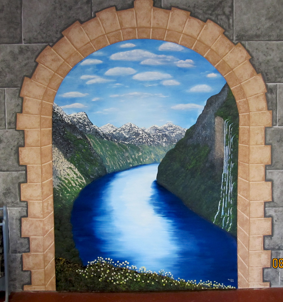 Mural in Valkyrie Brewery's Taproom